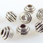10 Metallperlen Rondelle 5mm altsilber Spacerperlen Beads zum Basteln -1741