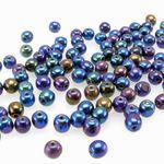 100 St. edle Böhmische Glasperlen Kugeln Ø 4mm Perlen bunt runde Zwischenperlen