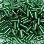 420 Rocailles-Stifte 7mm Röhrchen grün Glasperlen Silbereinzug Tubes 276