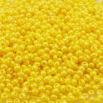 Rocailles 1500 St. 11/0 Glasperlen 2mm gelb Indianerperlen zum Schmuck häkeln