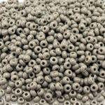 Rocailles 1200 St. 10/0 Glasperlen 2,3mm grau Indianerperlen Häkelperlen Beads